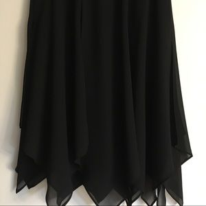 Jet Black, handkerchief hem skirt, Size 8